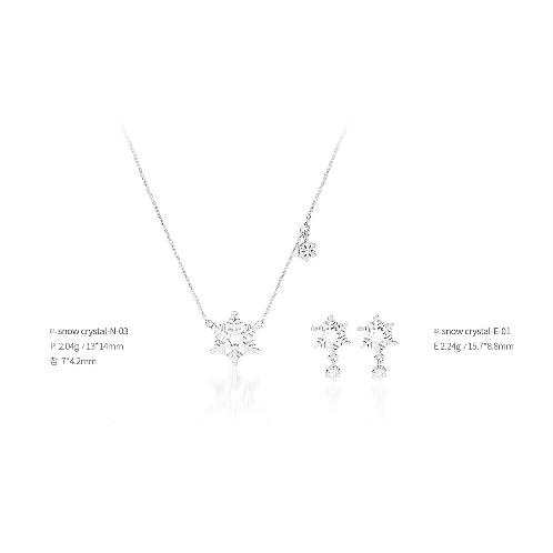 snow crystal jewelry snow crystal-03 (Earrings, Necklaces), made in Korea | Jewelry, Earrings, Necklaces, Silver, jewellery