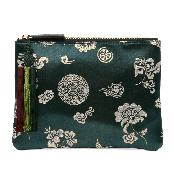 [Kesylang] Womens Clutch Bag of Traditional Pattern and Norigae combination Green