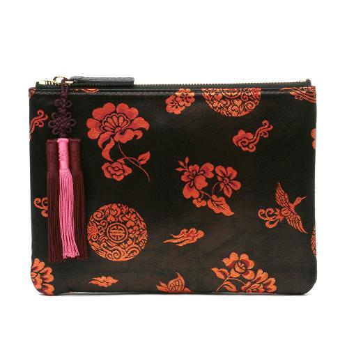 [Kesylang] Womens Clutch Bag of Traditional Pattern and Norigae combination | clutch bags,traditional korean bag,women clutch,Silk bag,korean bags for women,oriental bag
