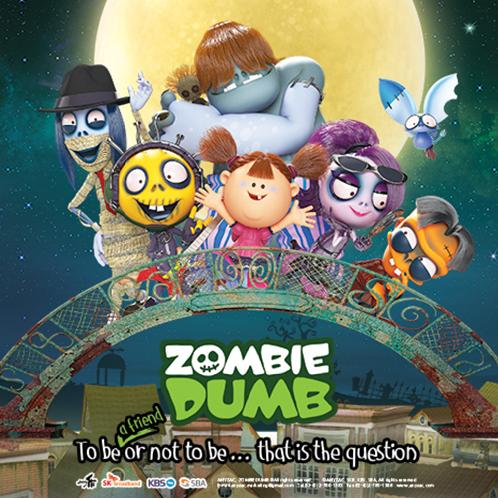 "ZOMBIEDUMB Season 1, ""The story that little zombies meet a human girl 'Hana' and become friends"" 