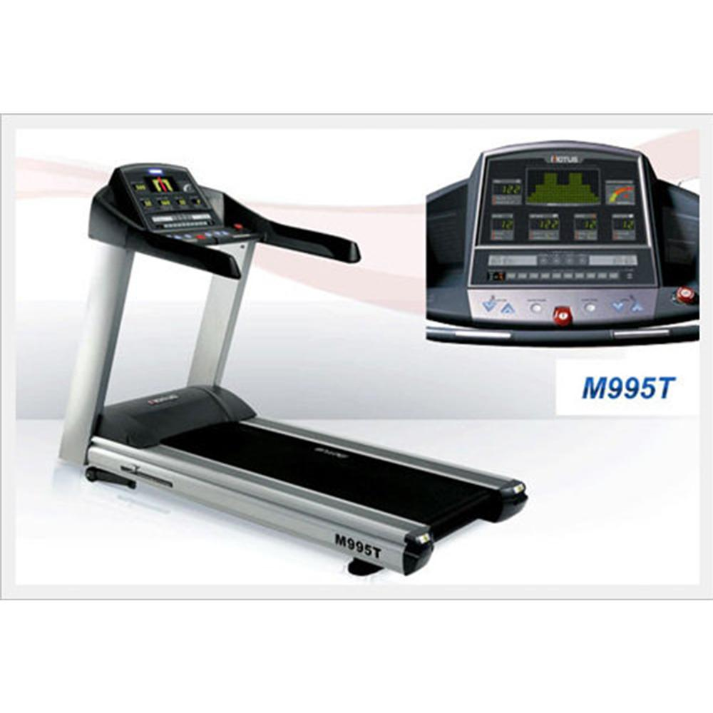 Enjoyment of TV, VCR and DVD Commercial Treadmill M995T with nano