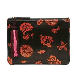 Kesylang Womens Clutch Bag of Traditional Pattern and Norigae combination with silk fabric