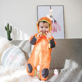 NARSIA Baby Jump Suit has functions such as bib, bottom mat, raincoat, outfit, play suit