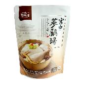 Charmfre samgyetang with safe and natural and clean as its main ingredients are korean chicken