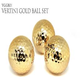 24K GOLD  PT. GOLDEN GOLFBALL 3 SET