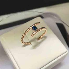 Hand made craftmanship pink gold color 14k gold diamond rings for your happy 1.85 g