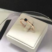 Hand made craftmanship 14k gold diamond rings for your happy  1.56 g