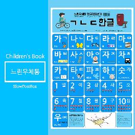 Korean alphabet learning poster