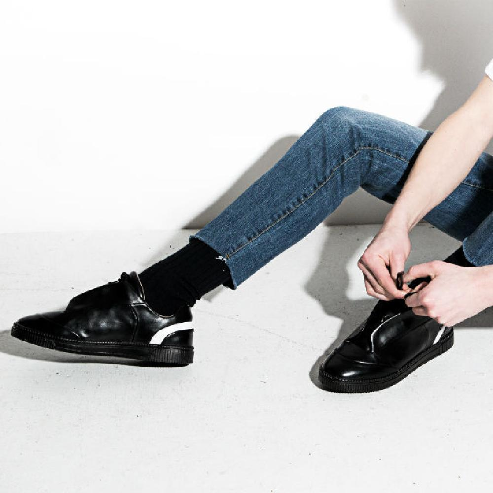 K-FASHION OFF-court sneakers(black) SHOES