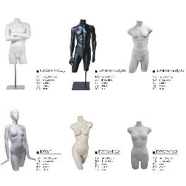 TORSO Mannequin Collections (Basic - white, black, beige, grey. or designated color)