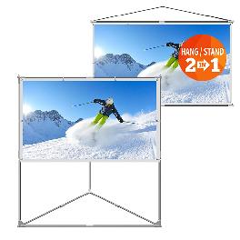 [JaeilPLM] 2-in-1 Portable Projector Screen_80-inch