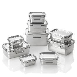 STAINLESS STEEL AIRTIGHT FOOD STORAGE