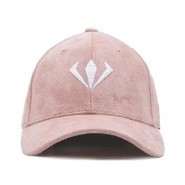WANGGWAN Raw Texture Suede Ballcap Pink 20 x 20 x 13 cm with adjustable strap