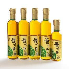 Seung-In Food 100% Perilla Seed Oil Set ( 300ml x 4ea, 180ml x 1ea)