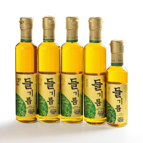Seung-In Food 100% Perilla Seed Oil Set ( 300ml x 4ea, 180ml x 1ea) | Perilla oil, Delicious, Food