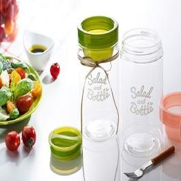 3CARE's Salad Bottle 1.0L [Green / Pink]