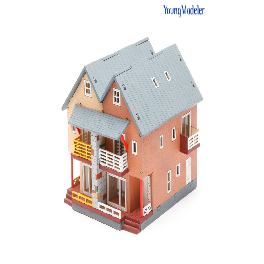 Youngmodeler YM657 Wooden Assembly Kit Hobby Miniature Model Duplex House