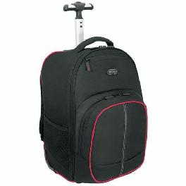 "Compact Rolling Laptop Backpack Black/Gray Business Bag 16""-TSB750AP"