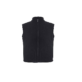 PapaTM Men's Soft and Cozy Full Zip Polar Fleece Vest Sleeveless Jacket Zippered Black