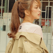 PinkAge's Slim Pin Ponytail (Nancy)
