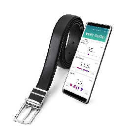 WELT Smart Belt, Compatible with iOS and Android, Free Size Men's Leather Belt, Bluetooth 4.1