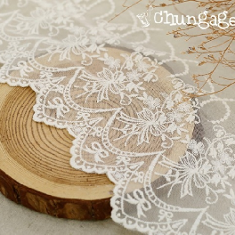 Mesh Lace R052 Angel Bouquet Fabric