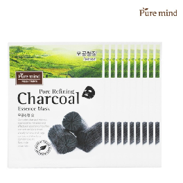 Pure mind Pore Refining Charcoal Essence Mask 10ea