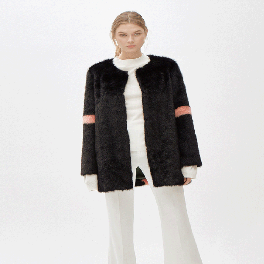 MINIMAL fur long jacket