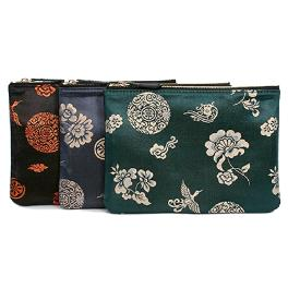 Clutch bag of Traditional pattern and leather combination (M)