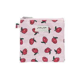 [LIVEWORK] Mini-pouch with jam-covered coating CAMELLIA FLOWER