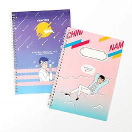 Schedule Book Free Book NAMCHINI Spring Note Route Note A4 Size Schedule Note