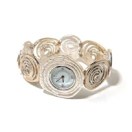 Mother-of-pearl Wire Wristwatch White