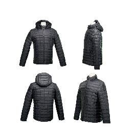 MRD Eco-friendly Hyper DWR Quilted Lightweight Slimfit Goose Down Men's Jacket w/detachable Hood