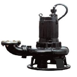 Submersible pump for sewage and wastewater treatment