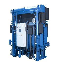 Double Lift Hot water chiller for district heating & industrial use
