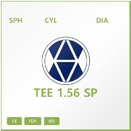TEE 1.56 SP LENS – Middle index NK monomer Lens SP and ASP design