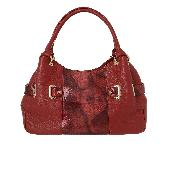 cowhide patternpoint shoulder bag