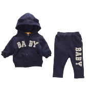 Baby Patched Hood Zip-up for Children