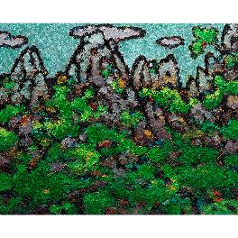 Park Kie-Soo Mt. Seolark  Hand-Painted Oil Painting on Canvas 28.62 x 23.85inch (72.7*60.6cm)