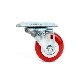 Polyurethane Swivel Plate Caster Wheels (3 inch no Brake)