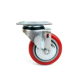 Polyurethane Swivel Plate Caster Wheels (4 inch no Brake)
