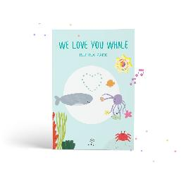 Ottiya Pop-Up Augmented Reality Book- We Love You Whale, for Kids Ages 5-9