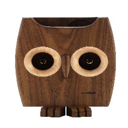 [Ollim-Character Series / K05b] Wooden Owl Powerless Sound Amplifier Speaker & Smartphone Stand