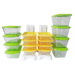 Rail Block BPA Free Food Storage Transparent Container Set Microwave Refrigerator Food Saver