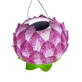 DAEWANG KING Solar Panel LED Flower Lotus Light Lamp