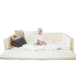 [GGUMBI] World Star Ivory Transforming Baby Bumper Bed 4in1 Convertible Playmat
