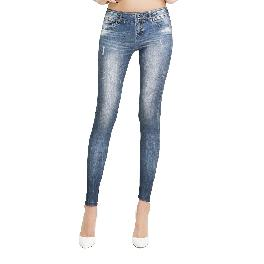 MISM Jeggings for Women Pull-On Denim Printed Skinny Stretch Jean Leggings (1054 Love me Tender)