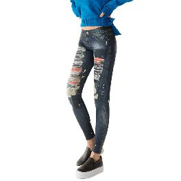 MISM Jeggings for Women Pull-On Denim Printed Skinny Stretch Jean Leggings (1065-winner Shopper)