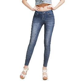 MISM Jeggings for Women Pull-On Denim Printed Skinny Stretch Jean Leggings (1075-elemental)