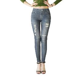 MISM Jeggings for Women Pull-On Denim Printed Skinny Stretch Jean Leggings (1081-eileen)